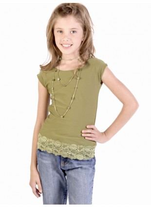Girls Lace Capsleeve